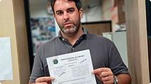 Nelson Hossri protocola representação após atraso na entrega de material escolar